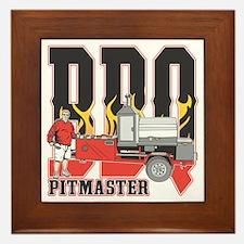 BBQ Pit master Framed Tile