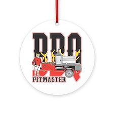 BBQ Pit master Ornament (Round)