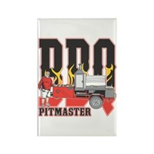 BBQ Pit master Rectangle Magnet