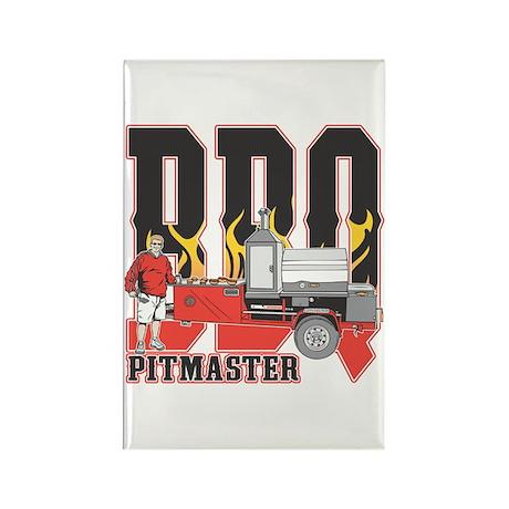 BBQ Pit master Rectangle Magnet (100 pack)