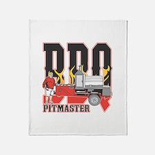 BBQ Pit master Throw Blanket