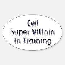 Super Villain Oval Decal