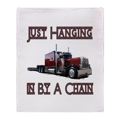 Just Hanging By A Chain Throw Blanket