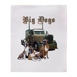 18 wheeler Fleece Blankets