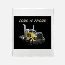 Loud is Proud Throw Blanket
