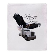 Flying Free Throw Blanket