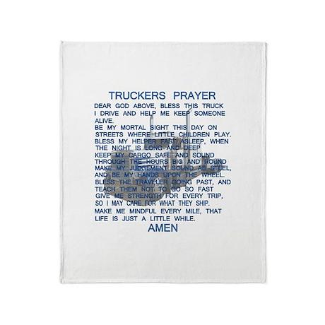 Trucker's Prayer Throw Blanket