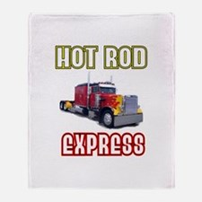 Hot Rod Express Throw Blanket