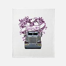 Truckers Wife Throw Blanket