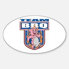Team Pork BBQ Sticker (Oval)