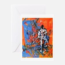 """Abstract Epee"" Greeting Card"
