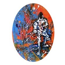 """""""Abstract Epee"""" Ornament (Oval)"""