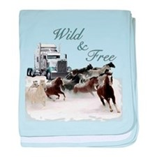 Wild & Free baby blanket