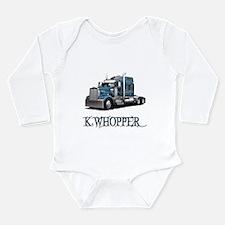 K Whopper Long Sleeve Infant Bodysuit