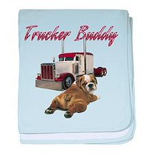 Trucker Buddy baby blanket