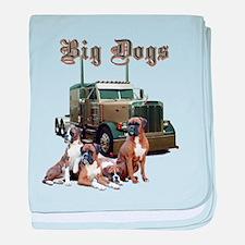 Big Dogs baby blanket