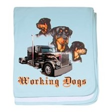 Working Dogs baby blanket