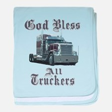 God Bless All Truckers baby blanket