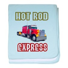 Hot Rod Express baby blanket