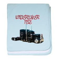 Undercover Pete baby blanket