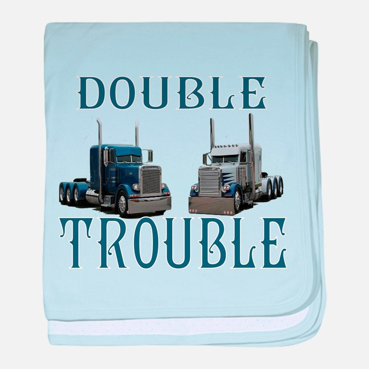 Double Trouble baby blanket
