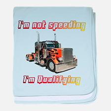 I'm Not Speeding baby blanket