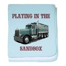 Playing in the Sand Box baby blanket