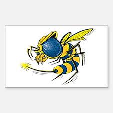 Killer Bee 3 Sticker (Rectangle)