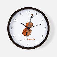 I love cello Wall Clock