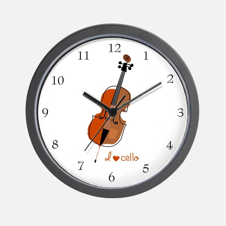 I love cello Wall Clock