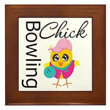 Bowling Chick Framed Tile