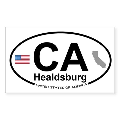 Healdsburg Sticker (Rectangle 10 pk)