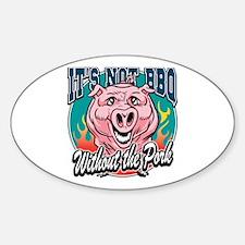 BBQ Pork Sticker (Oval)