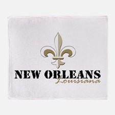 New Orleans, Louisiana gold Throw Blanket