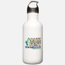 Jazz Fest NOLA sax Water Bottle