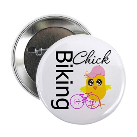 "Biking Chick 2.25"" Button (100 pack)"