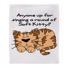 Singing a round of Soft Kitty Throw Blanket