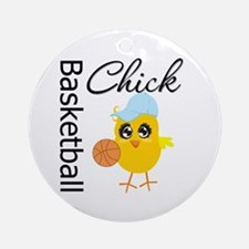 Basketball Chick Ornament (Round)