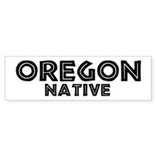 Oregon Native Bumper Bumper Sticker