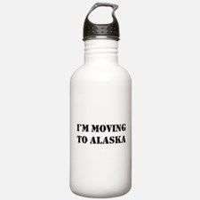 Moving to Alaska Water Bottle