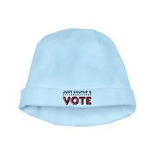Just shutup vote baby hat