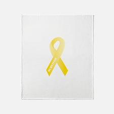 Yellow Ribbon Survivor Throw Blanket