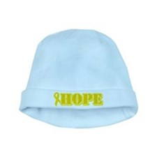 Hope Yellow ribbon baby hat