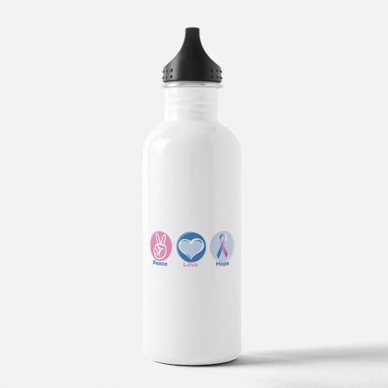 Peace Love Bl Pk Hope Water Bottle