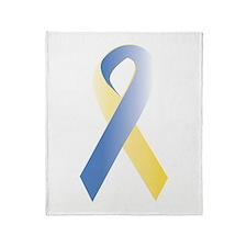 BlueYellow Ribbon Throw Blanket