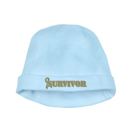 Gold Ribbon Survivor baby hat