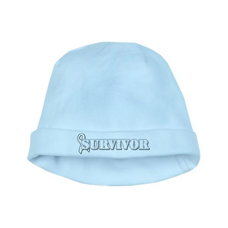 White Ribbon Survivor baby hat