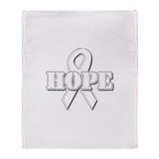 White Hope Ribbon Throw Blanket