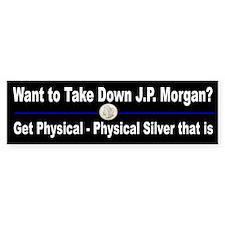 Crash J. P. Morgan Buy Silver Bumper Sticker