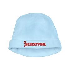 Red Ribbon Survivor baby hat